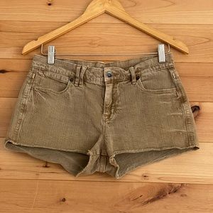 Madewell brown jean cut off shorts